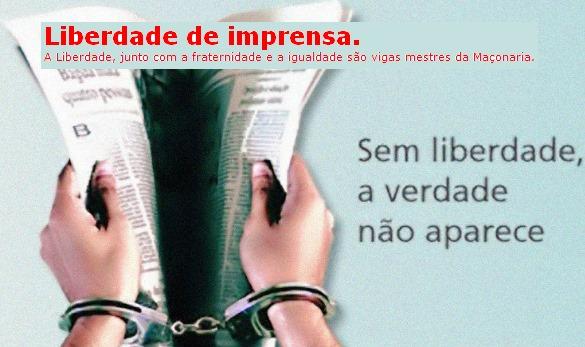 Liberdade de imprensa.